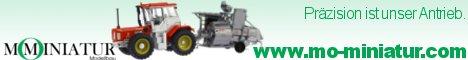 MO-Miniatur Modellbau - Präzisionsmodelle von Traktoren, landwirtschaftlichen Maschinen und Nutzfahrzeugen aller Epochen in verschiedenen Maßstäben